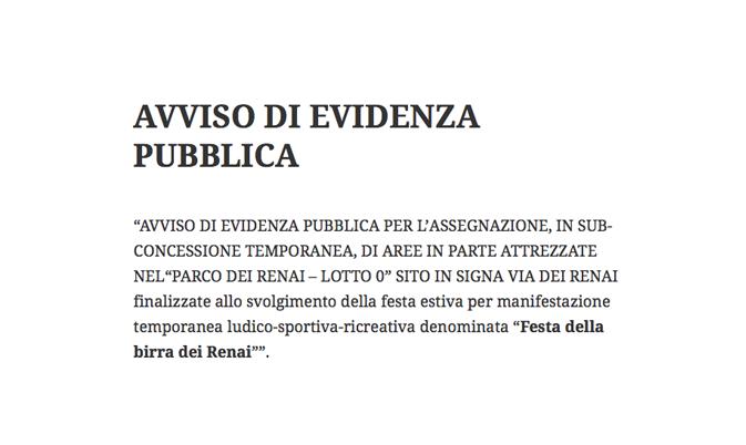 AVVISO DI EVIDENZA PUBBLICA